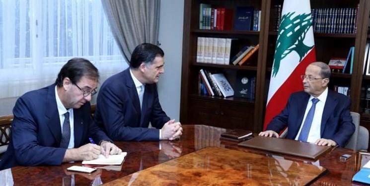 دیدار هیأت فرانسوی با رئیس جمهور لبنان