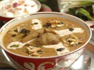 طرز تهیه آبگوشت بادمجان همدان